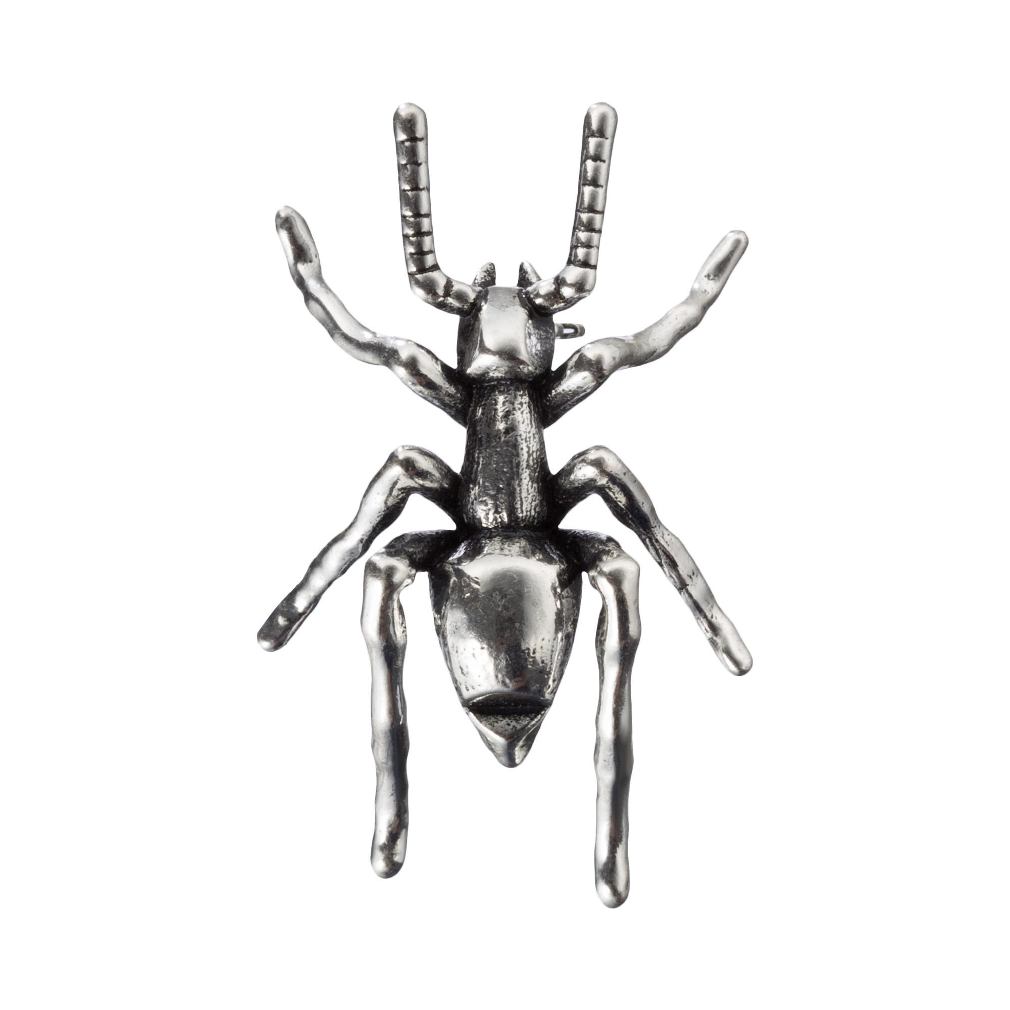 Брошь Серебряный жук жук