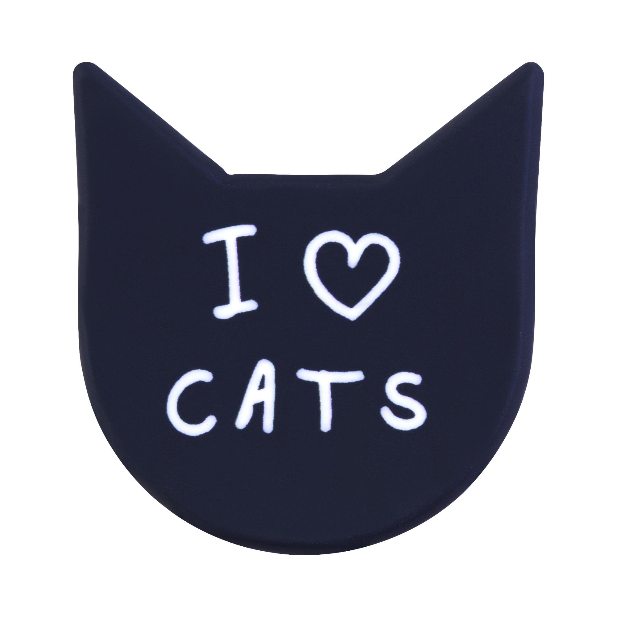 купить Брошь I love cats недорого