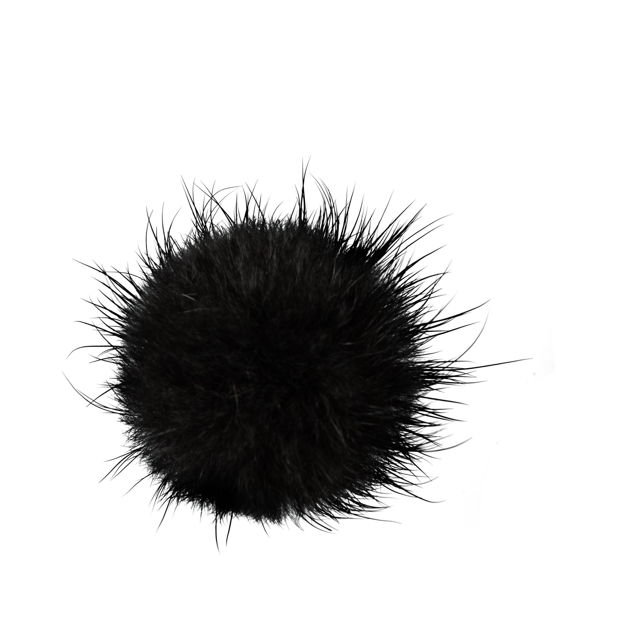 Брошь Мех (черный) вставные наушники harper bt наушники с микрофоном hb 508 white
