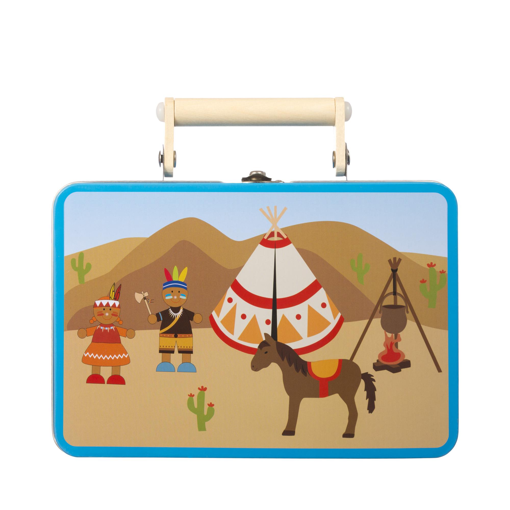 Игровой набор чемодан индейца головоломки fantastic игровой набор чемодан головоломок