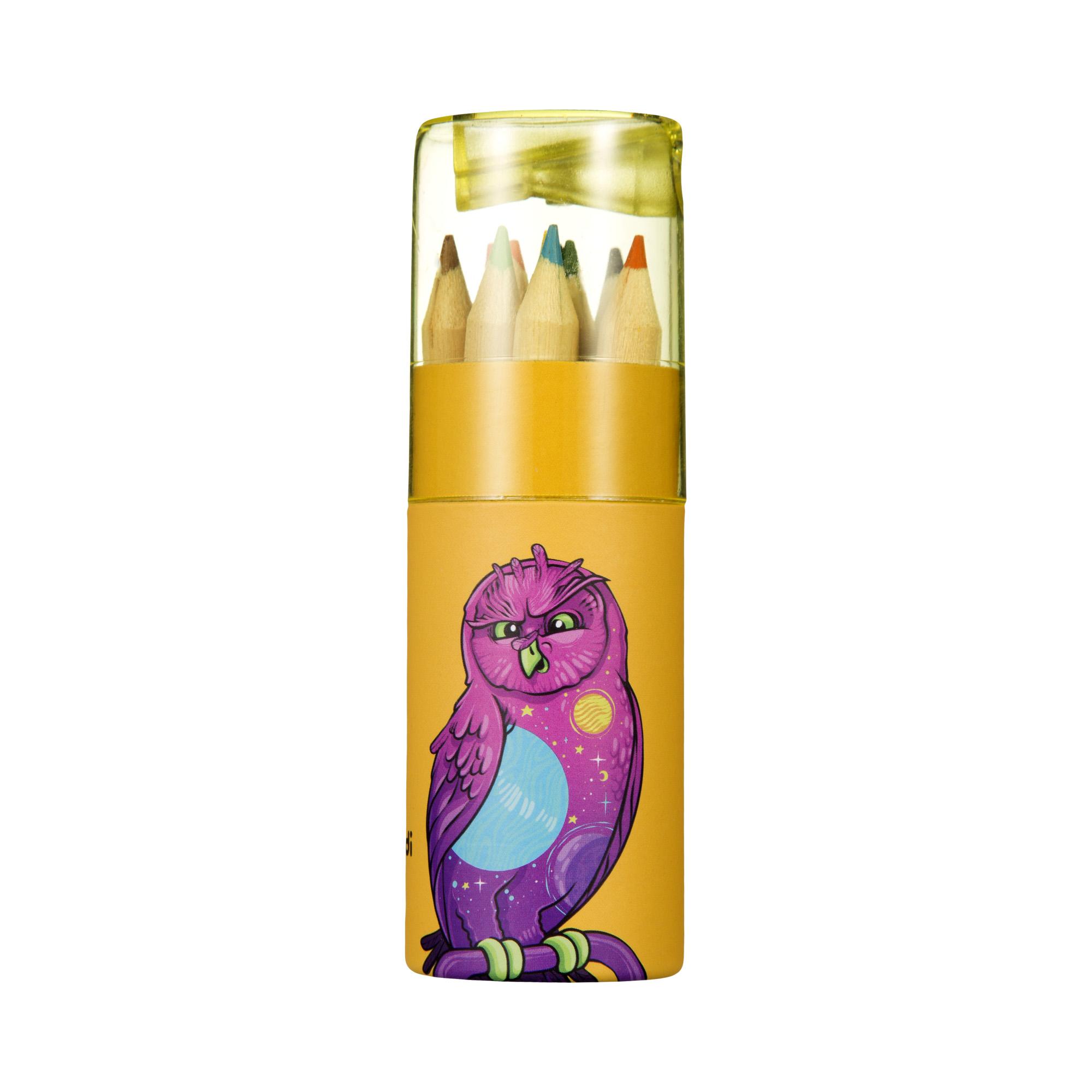 Карандаши мини цветные в тубе, 12 шт ручки и карандаши crayola карандаши цветные crayola 12 шт