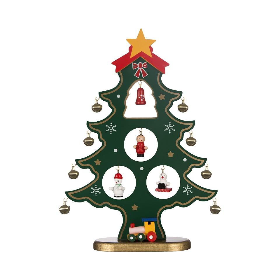"""Декоративная статуэтка """"елка с игрушками"""" елочка с ..."""
